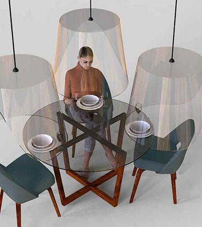 Novo normal: designer sugere solução para jantar fora de casa pós-pandemia