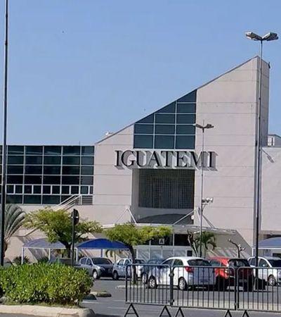 Shopping entre duas cidades com lojas que podem abrir e fechar retrata quarentena brasileira