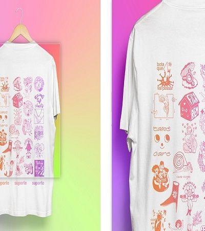 Para arrecadar doações, artistas LGBTQI+ criam camisa colaborativa que retrata rotina na pandemia