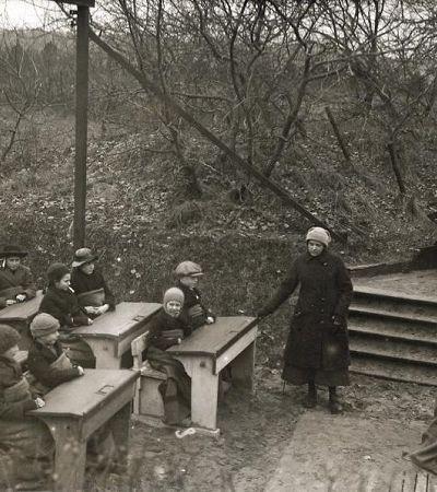 Escolas ao ar livre criadas para combater a tuberculose no início do século 20