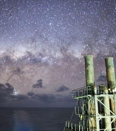 Oficial de navio de carga captura fotos impressionantes da Via Láctea no meio do oceano