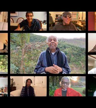 'Andar com Fé': Stevie Wonder, Djavan e companhia celebram 78 anos de Gil no melhor vídeo para o seu dia