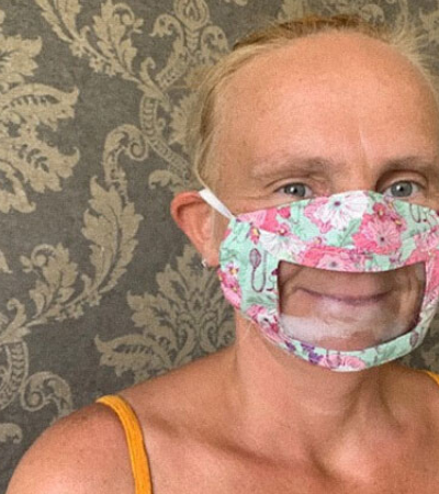 Mãe surda cria máscara que permite leitura labial e a propagação de sorrisos