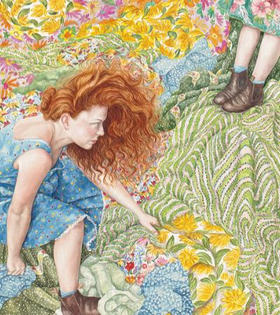 Pinturas coloridas transformam narrativas femininas em obras de arte