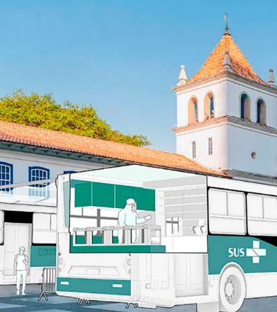 Arquitetos lançam projeto que transforma ônibus em hospitais móveis em parceria com a USP