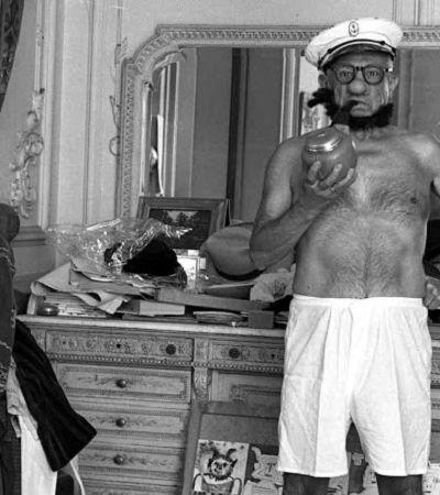 Picasso vestido de Popeye em 1957 é apenas maravilhoso