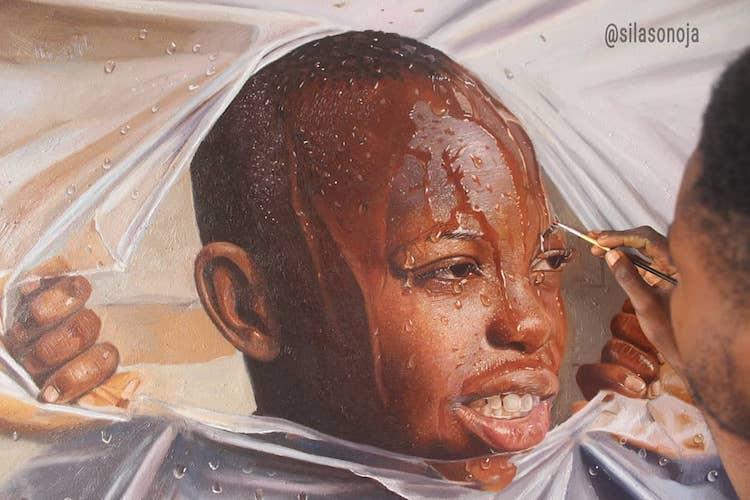 pinturas realistas silas onoja 1