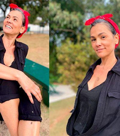 Suzana Alves diz que se sentia refém da estética de Tiazinha em desabafo sobre cabelo grisalho