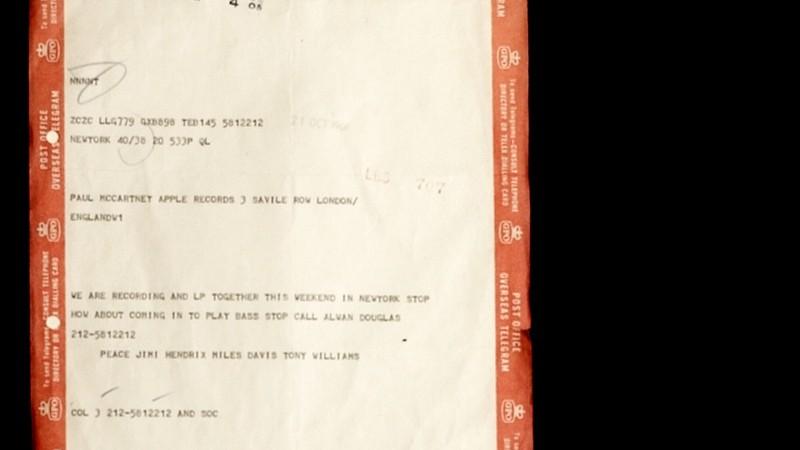 Telegrama enviado para Paul McCartney.