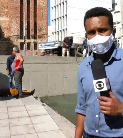 Repórter pula na água para salvar homem que era eletrocutado; veja vídeo