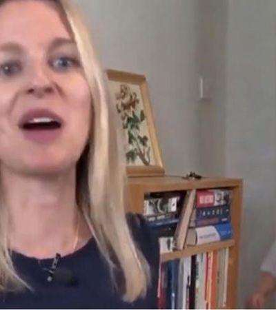 Filho interrompe ao vivo de repórter para pedir biscoitos; assista ao vídeo