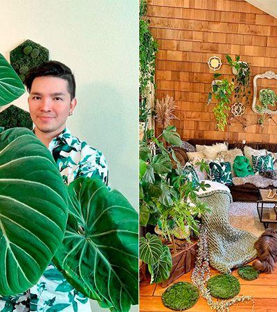 'Pai de planta' com mais de 200 espécies indoor dá dicas para cultivar seu jardim