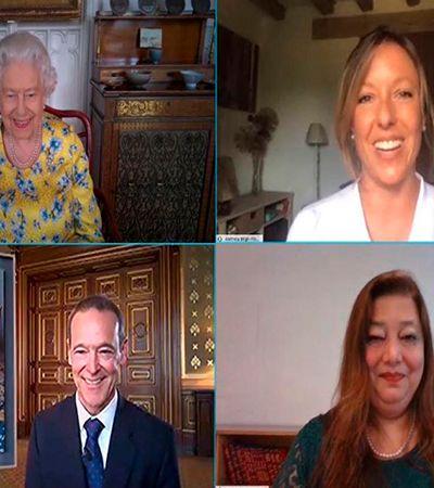 Rainha Elizabeth II faz vídeo-chamada para conhecer seu mais novo retrato pintado