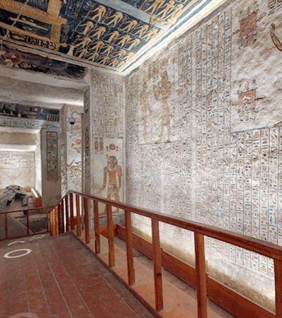 Visite o túmulo de um antigo faraó egípcio sem sair de casa