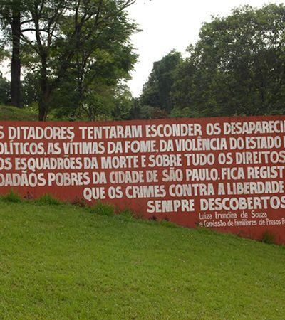 História da ditadura militar em SP inclui trilha na histórica vala de Perus