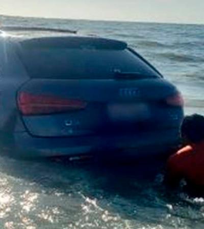 Festa em plena quarentena termina com carros de luxo tragados pelo mar; veja o vídeo