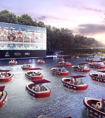 Rio Sena, em Paris, é transformado em cinema a céu aberto com distanciamento social