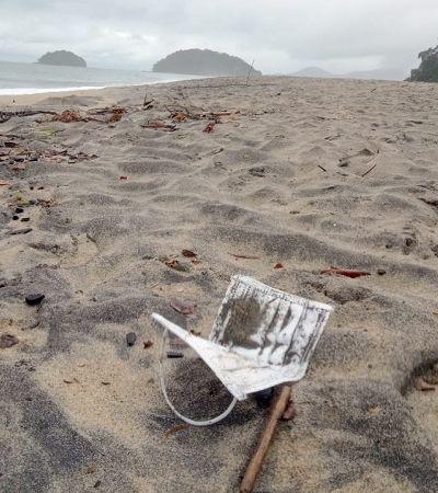 Lixo da pandemia: praias de SP são invadidas por máscaras