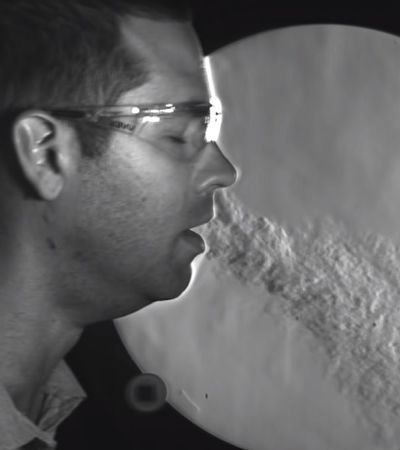 Vídeo mostra como diferentes máscaras contém a disseminação da Covid-19