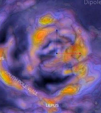 Muralha do Polo Sul: descobriram uma estrutura de galáxias gigante próxima da Via Láctea