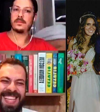 Companheira de Porchat pelada em live acidentalmente vira notícia porque mesmo?