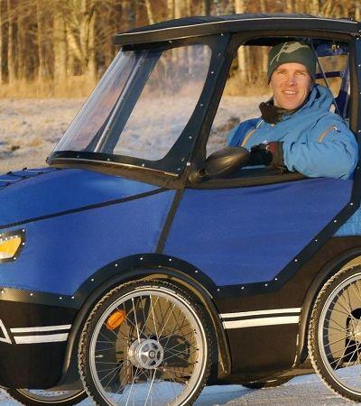 PodRide, o carro-bicicleta que vai proteger o ciclista da chuva, do frio e até da neve