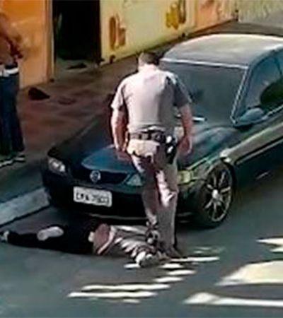 Mulher negra que teve pescoço pisado por PM mostra que lógica racista da polícia só acaba com refundação