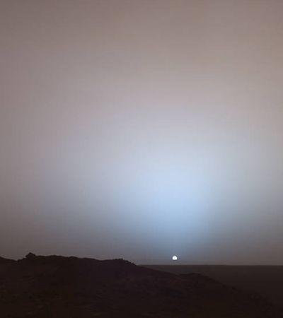 Nasa divulga fotos inéditas com a diferença entre o pôr do sol em Marte e na Terra