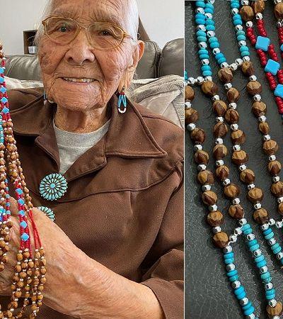 Vovó da etnia Navajo de 96 anos viraliza com seus bordados no TikTok