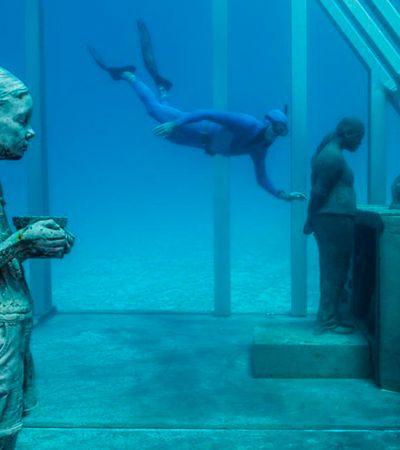 Primeiro museu submerso do mundo que permite apreciar arte durante um mergulho é inaugurado