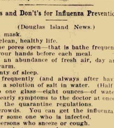 As recomendações da época da gripe espanhola provam que a história se repete