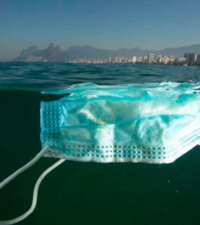 Máscaras contra coronavírus boiando em praias do RJ preocupam ambientalistas