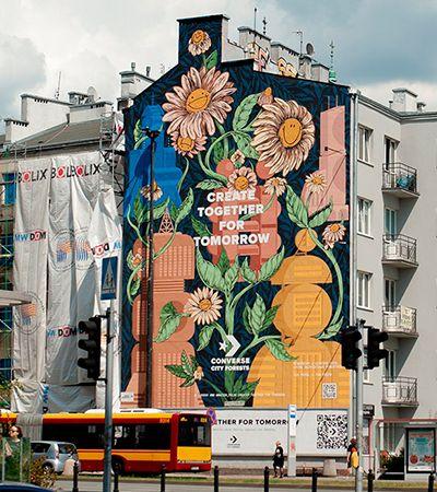 Este mural na Polônia tem o poder de purificação do ar equivalente a 720 árvores