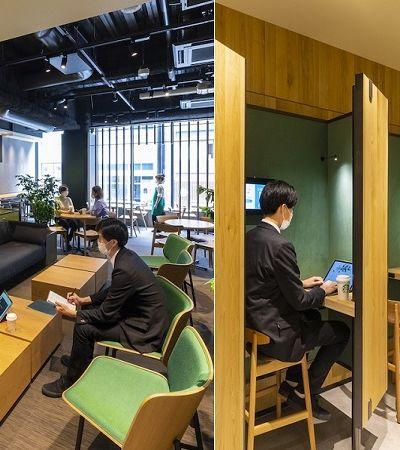 Starbucks cria espaço de co-working com cabines de trabalho isoladas no Japão