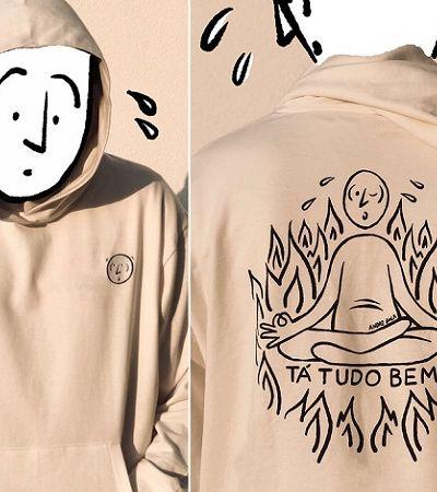 Artista cria camisetas para refletir sobre 'estar bem, mesmo não estando'