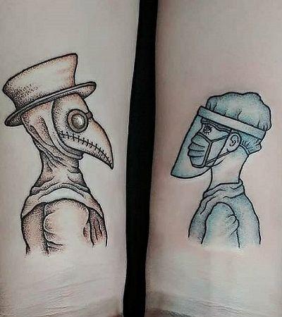 Tatuagens com temática 'coronavírus' ganham popularidade na quarentena
