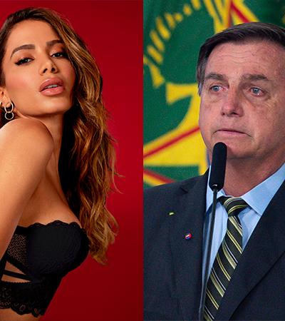 Anitta classifica agressão de presidente contra repórter de 'falta de intelecto'