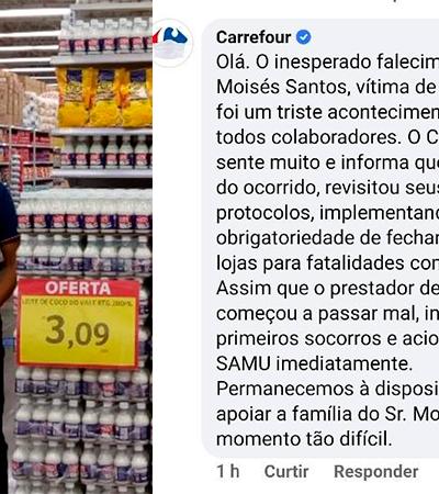 Carrefour se desculpa por guarda-sol para cobrir corpo de homem morto e manter loja aberta