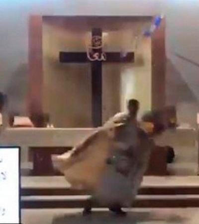 Líbano: padre foge de explosão durante missa e repórter é arrancada de cadeira ao vivo