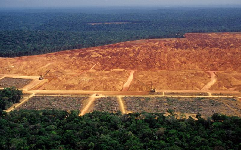 Imagem de desmatamento na Floresta Amazônica