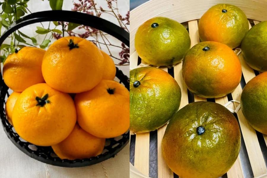 Pães idênticos a tangerinas