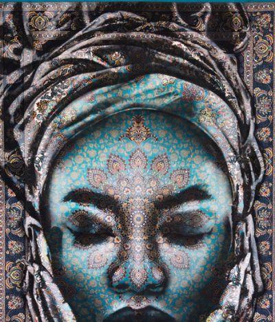 Arte transforma tapetes persas em lindos rostos de mulheres; veja foto
