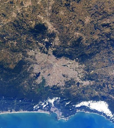 Nasa publica foto do litoral de São Paulo visto do espaço e viraliza nas redes sociais