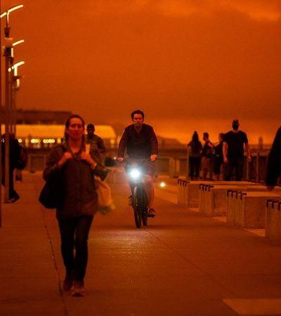 Céu da Califórnia laranja por incêndio absurdo não é filme sobre Marte. É emergência climática