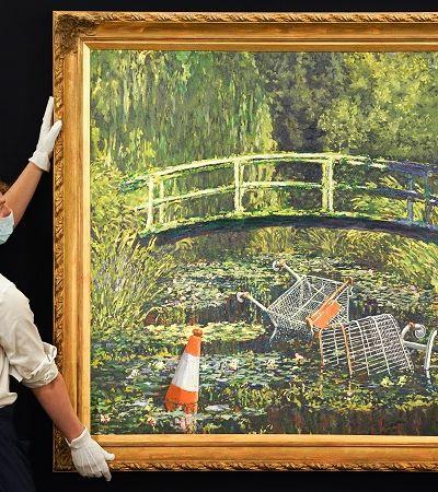 Versão de Banksy de quadro de Monet deve ultrapassar 6 milhões em leilão