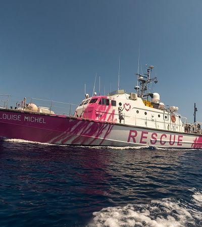 Banksy financia navio que resgatou ao menos 200 refugiados