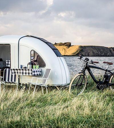 Micro trailer dobrável acoplado à bicicleta te ajuda a fugir da cidade