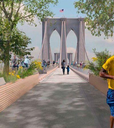 Concurso 'reinventa' a icônica Brooklyn Bridge, em Nova York