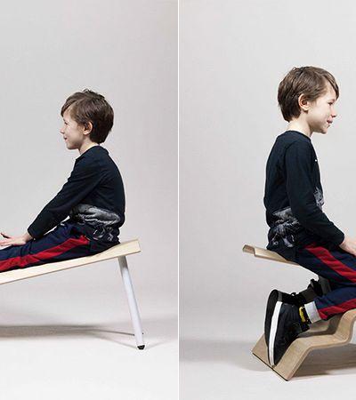 Banco escolar estimula posições saudáveis oferecendo 4 formas de sentar
