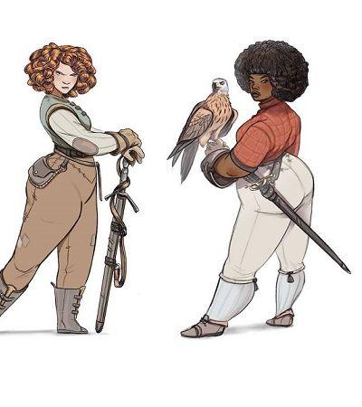 Ilustradora cria série com mulheres fortes e diversas como guerreiras